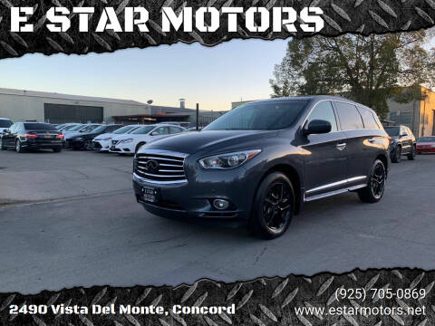 2013 Infiniti JX35 for sale at E STAR MOTORS in Concord CA