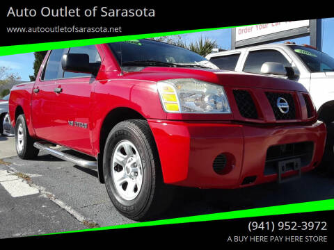 2007 Nissan Titan for sale at Auto Outlet of Sarasota in Sarasota FL