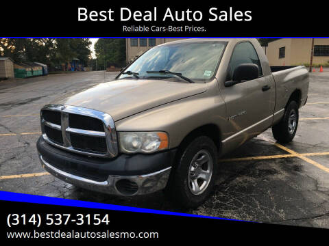 2003 Dodge Ram Pickup 1500 for sale at Best Deal Auto Sales in Saint Charles MO