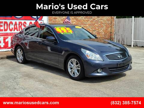 2012 Infiniti G37 Sedan for sale at Mario's Used Cars in Houston TX