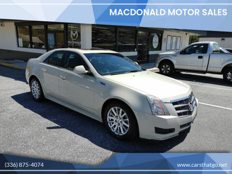 2010 Cadillac CTS for sale at MacDonald Motor Sales in High Point NC