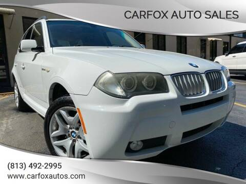 2007 BMW X3 for sale at Carfox Auto Sales in Tampa FL