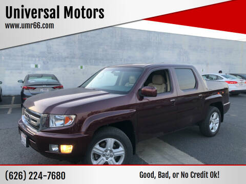 2010 Honda Ridgeline for sale at Universal Motors in Glendora CA
