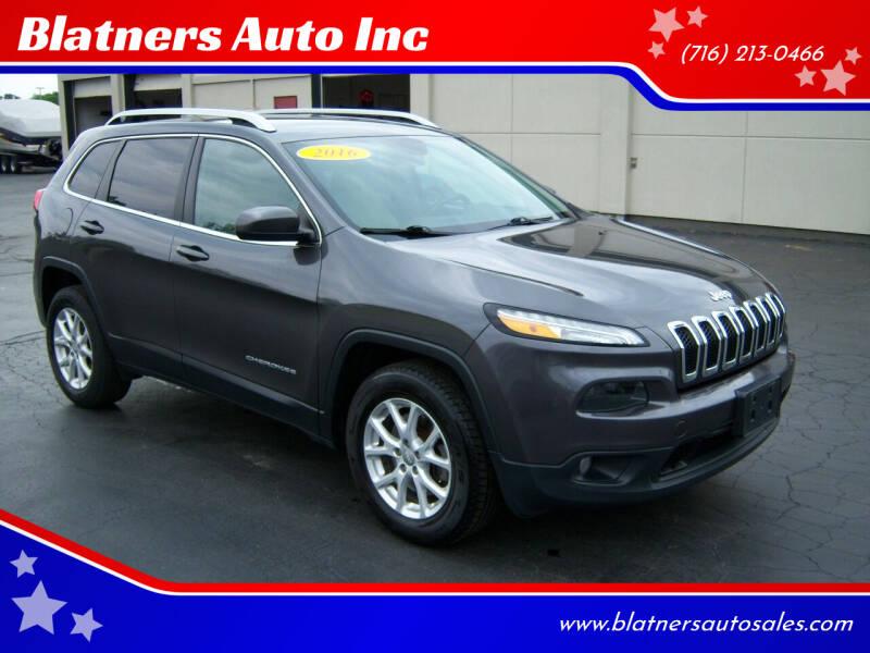 2016 Jeep Cherokee for sale at Blatners Auto Inc in North Tonawanda NY