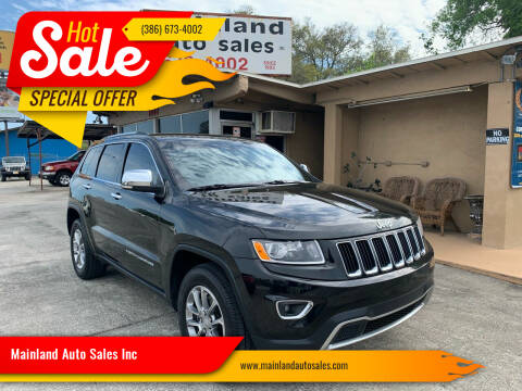 2016 Jeep Grand Cherokee for sale at Mainland Auto Sales Inc in Daytona Beach FL