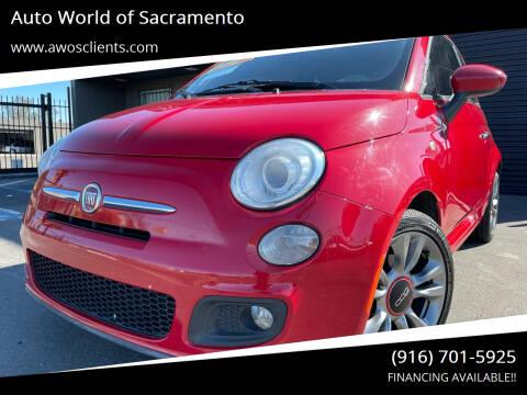 2014 FIAT 500 for sale at Auto World of Sacramento Stockton Blvd in Sacramento CA
