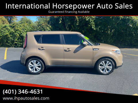 2014 Kia Soul for sale at International Horsepower Auto Sales in Warwick RI
