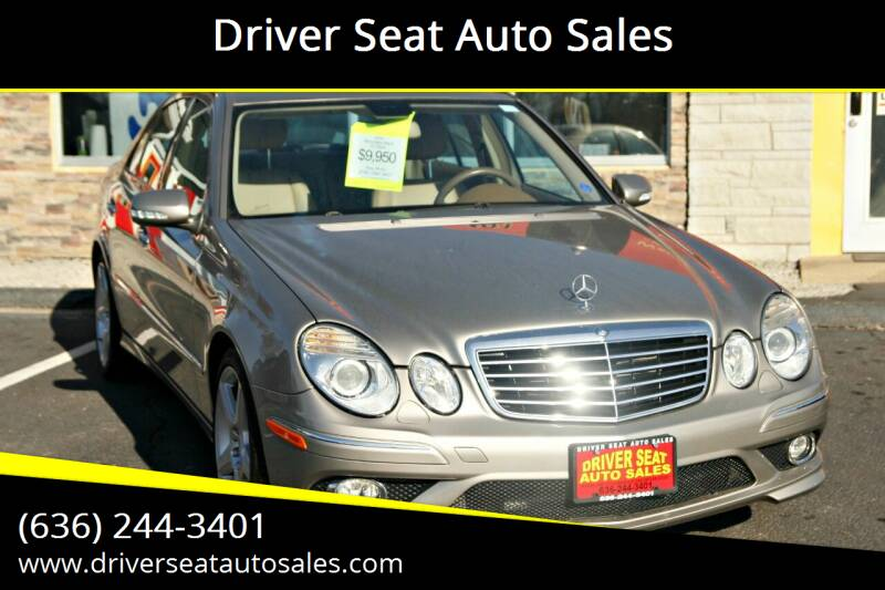 2009 Mercedes-Benz E-Class for sale at Driver Seat Auto Sales in St. Charles MO