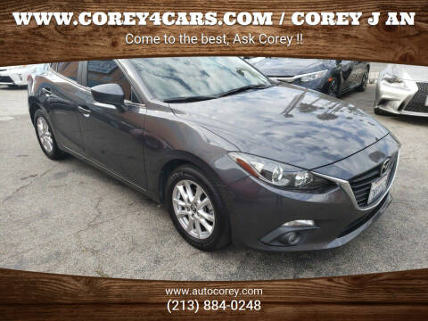 2015 Mazda MAZDA3 for sale at WWW.COREY4CARS.COM / COREY J AN in Los Angeles CA