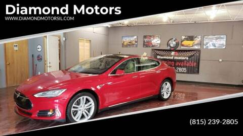 2014 Tesla Model S for sale at Diamond Motors in Pecatonica IL