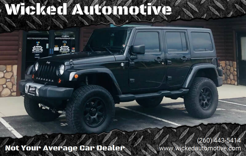 2013 Jeep Wrangler Unlimited for sale at Wicked Automotive in Fort Wayne IN