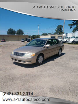 2003 Toyota Avalon for sale at A-1 Auto Sales Of South Carolina in Conway SC