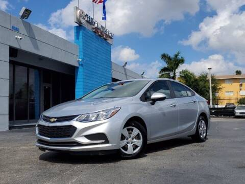 2018 Chevrolet Cruze for sale at Tech Auto Sales in Hialeah FL