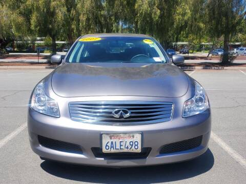 2008 Infiniti G35 for sale at ALL CREDIT AUTO SALES in San Jose CA