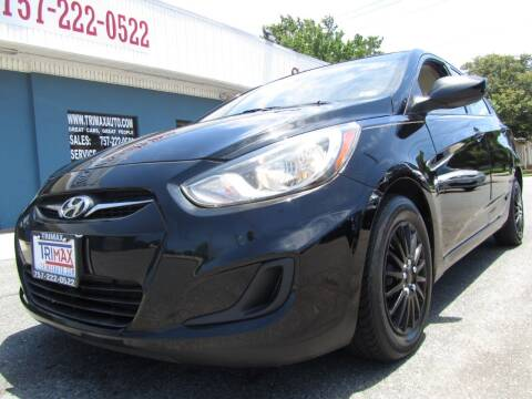 2012 Hyundai Accent for sale at Trimax Auto Group in Norfolk VA
