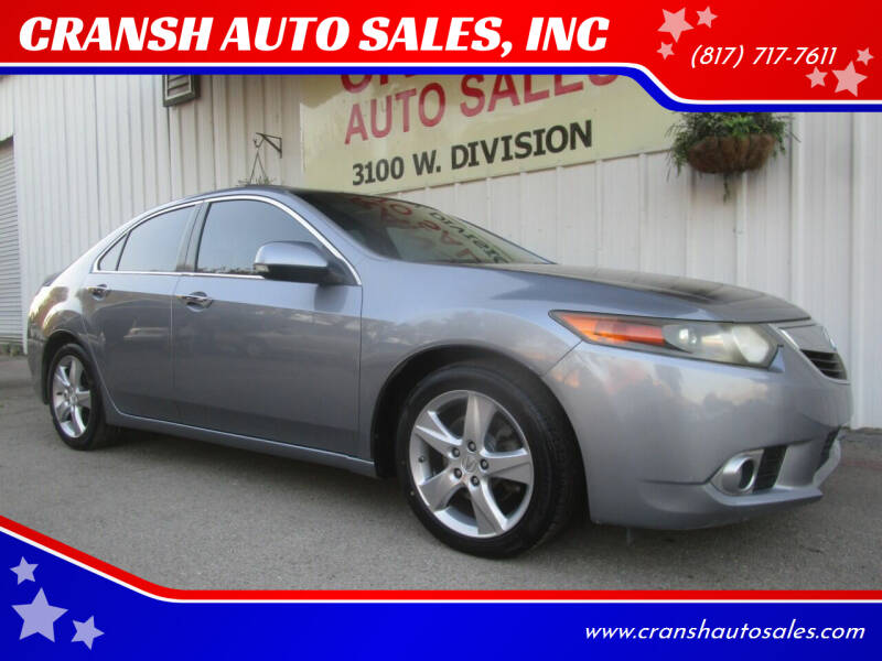 2011 Acura TSX for sale at CRANSH AUTO SALES, INC in Arlington TX