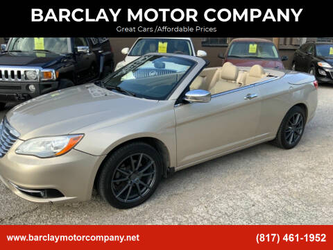 2013 Chrysler 200 Convertible for sale at BARCLAY MOTOR COMPANY in Arlington TX