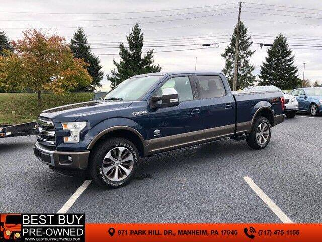 2015 Ford F-150 4x4 King Ranch 4dr SuperCrew 6.5 ft. SB - Manheim PA