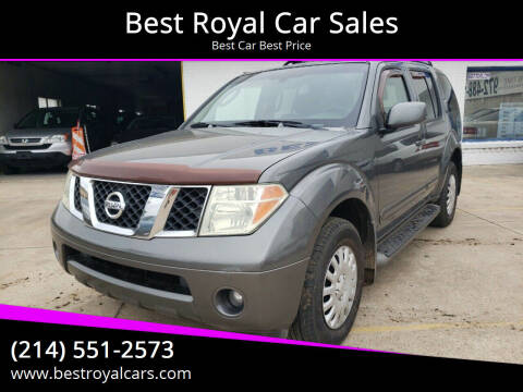 2006 Nissan Pathfinder for sale at Best Royal Car Sales in Dallas TX