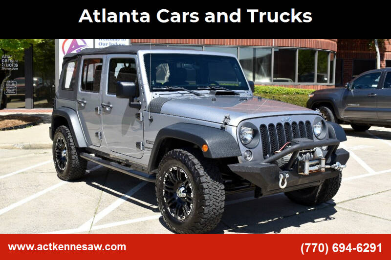 2014 Jeep Wrangler Unlimited for sale at Atlanta Cars and Trucks in Kennesaw GA