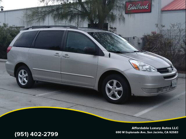 2005 Toyota Sienna for sale at Affordable Luxury Autos LLC in San Jacinto CA