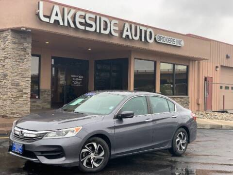 2016 Honda Accord for sale at Lakeside Auto Brokers Inc. in Colorado Springs CO