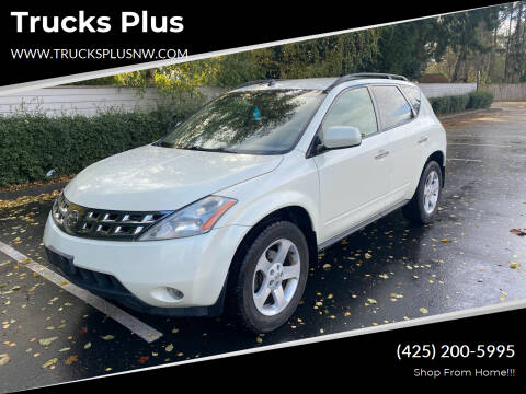 2003 Nissan Murano for sale at Trucks Plus in Seattle WA