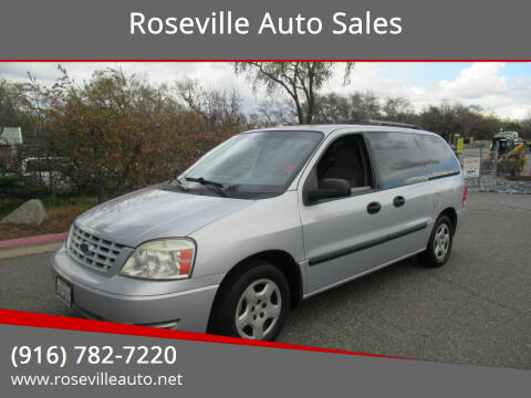 2007 Ford Freestar for sale at Roseville Auto Sales in Roseville CA