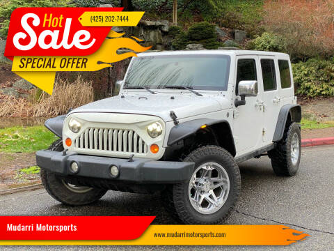 2013 Jeep Wrangler Unlimited for sale at Mudarri Motorsports in Kirkland WA