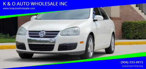 2008 Volkswagen Jetta for sale at K & O AUTO WHOLESALE INC in Jacksonville FL