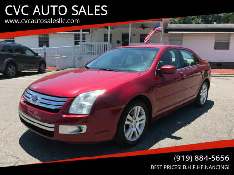 2009 Ford Fusion for sale at CVC AUTO SALES in Durham NC
