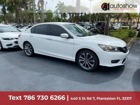2015 Honda Accord for sale at AUTOSHOW SALES & SERVICE in Plantation FL