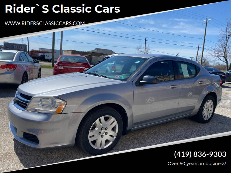 2013 Dodge Avenger for sale at Rider`s Classic Cars in Millbury OH