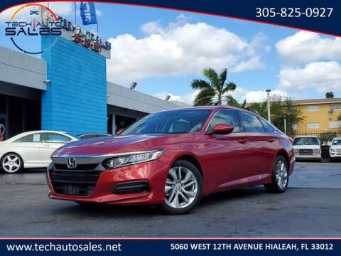 2018 Honda Accord for sale at Tech Auto Sales in Hialeah FL