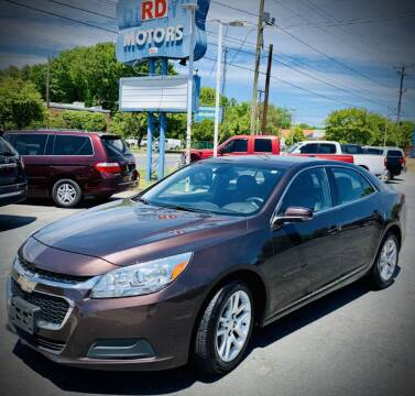 2015 Chevrolet Malibu for sale at RD Motors, Inc in Charlotte NC