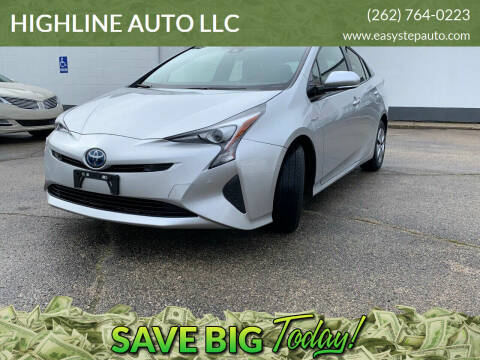 2018 Toyota Prius for sale at HIGHLINE AUTO LLC in Kenosha WI