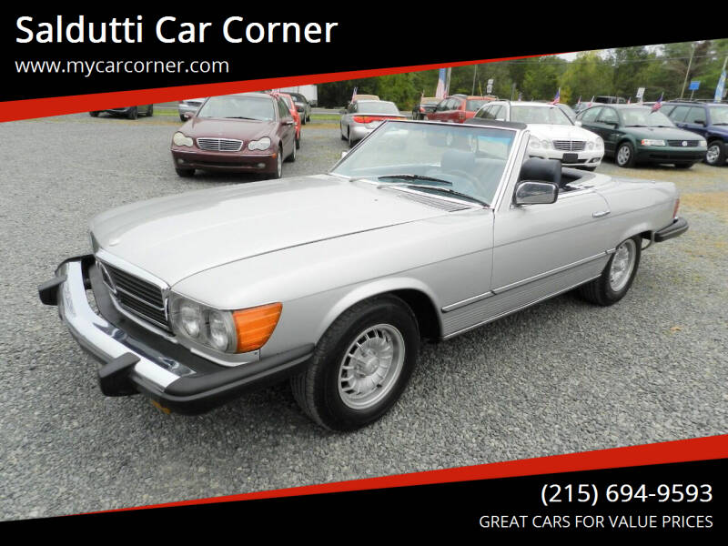 1980 Mercedes-Benz 450 SL for sale at Saldutti Car Corner in Gilbertsville PA