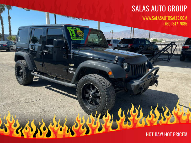 2013 Jeep Wrangler Unlimited for sale at Salas Auto Group in Indio CA