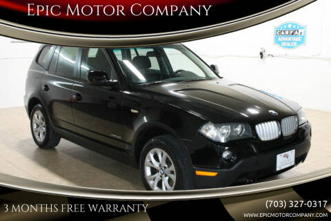 2010 BMW X3 for sale at Epic Motor Company in Chantilly VA