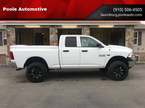 2016 RAM Ram Pickup 1500 for sale at Poole Automotive in Laurinburg NC