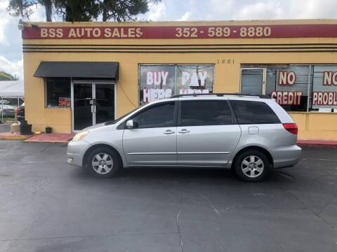 2004 Toyota Sienna for sale at BSS AUTO SALES INC in Eustis FL