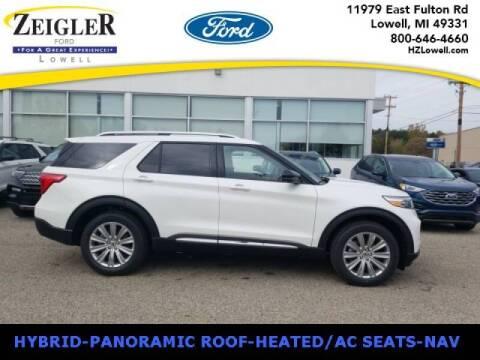 2021 Ford Explorer Hybrid for sale at Zeigler Ford of Plainwell- michael davis in Plainwell MI