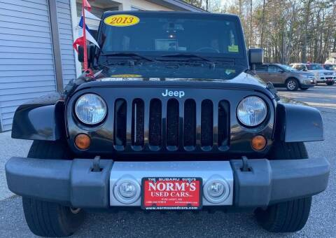 2013 Jeep Wrangler Unlimited for sale at NORM'S USED CARS INC - Trucks By Norm's in Wiscasset ME