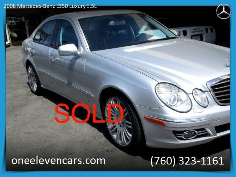 2008 Mercedes-Benz E-Class for sale at One Eleven Vintage Cars in Palm Springs CA