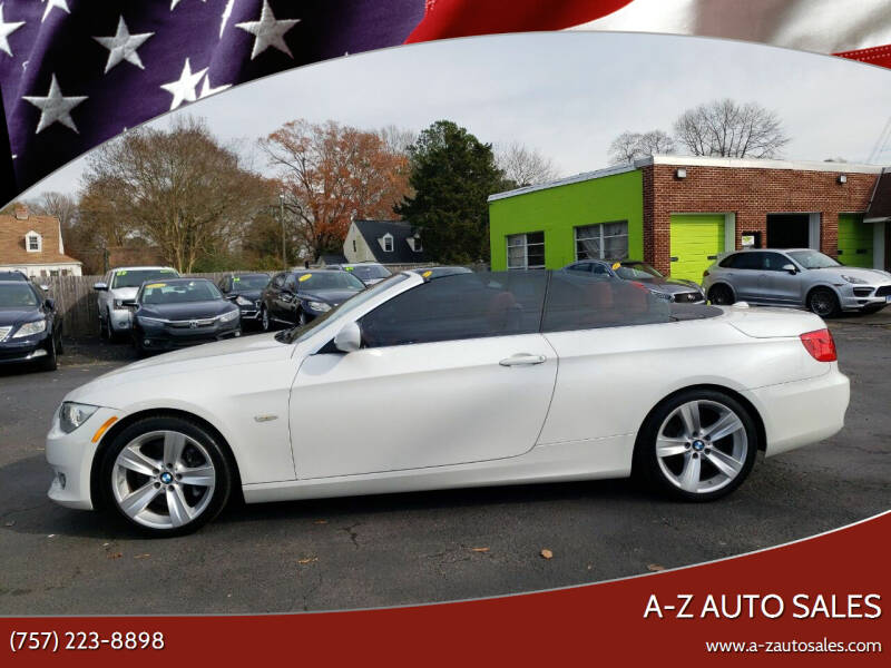 2013 BMW 3 Series for sale at A-Z Auto Sales in Newport News VA