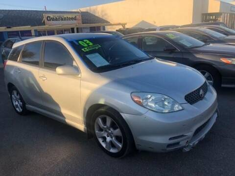 2003 Toyota Matrix for sale at Miracle Motor Cars Inc. in Victorville CA