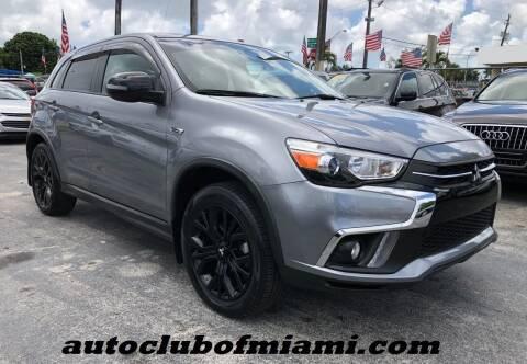 2019 Mitsubishi Outlander Sport for sale at AUTO CLUB OF MIAMI in Miami FL