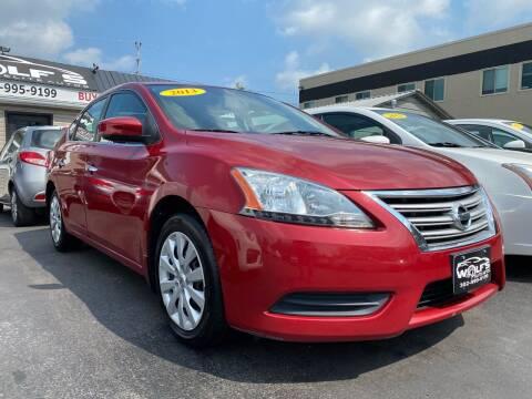 2013 Nissan Sentra for sale at WOLF'S ELITE AUTOS in Wilmington DE