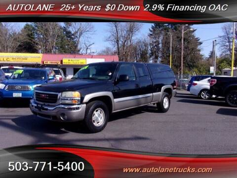 2003 GMC Sierra 1500 for sale at Auto Lane in Portland OR