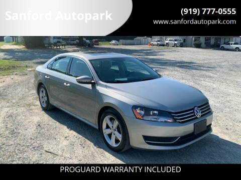 2012 Volkswagen Passat for sale at Sanford Autopark in Sanford NC